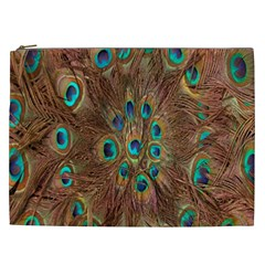 Peacock Pattern Background Cosmetic Bag (xxl)