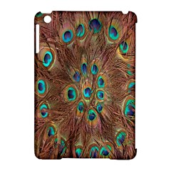 Peacock Pattern Background Apple Ipad Mini Hardshell Case (compatible With Smart Cover) by Simbadda