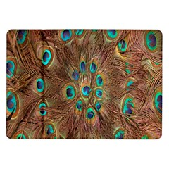 Peacock Pattern Background Samsung Galaxy Tab 10 1  P7500 Flip Case by Simbadda