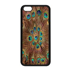 Peacock Pattern Background Apple Iphone 5c Seamless Case (black)