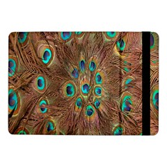 Peacock Pattern Background Samsung Galaxy Tab Pro 10 1  Flip Case by Simbadda