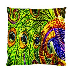 Glass Tile Peacock Feathers Standard Cushion Case (two Sides) by Simbadda
