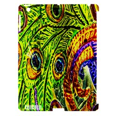 Glass Tile Peacock Feathers Apple Ipad 3/4 Hardshell Case (compatible With Smart Cover) by Simbadda