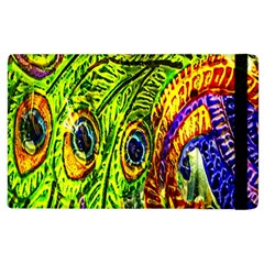 Glass Tile Peacock Feathers Apple Ipad 2 Flip Case by Simbadda