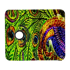 Glass Tile Peacock Feathers Galaxy S3 (flip/folio) by Simbadda