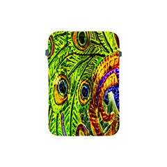 Glass Tile Peacock Feathers Apple Ipad Mini Protective Soft Cases by Simbadda