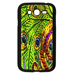 Glass Tile Peacock Feathers Samsung Galaxy Grand Duos I9082 Case (black) by Simbadda