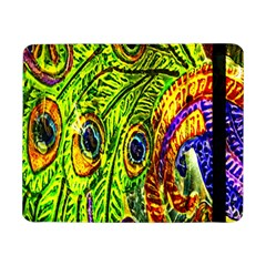 Glass Tile Peacock Feathers Samsung Galaxy Tab Pro 8 4  Flip Case