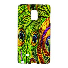 Glass Tile Peacock Feathers Galaxy Note Edge by Simbadda
