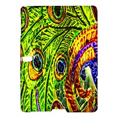 Glass Tile Peacock Feathers Samsung Galaxy Tab S (10 5 ) Hardshell Case  by Simbadda