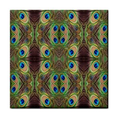 Beautiful Peacock Feathers Seamless Abstract Wallpaper Background Tile Coasters