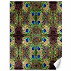 Beautiful Peacock Feathers Seamless Abstract Wallpaper Background Canvas 36  X 48   by Simbadda