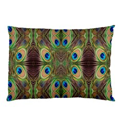 Beautiful Peacock Feathers Seamless Abstract Wallpaper Background Pillow Case (two Sides) by Simbadda