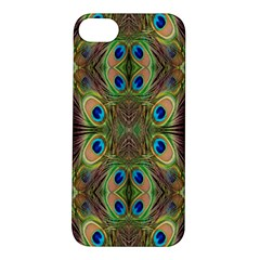 Beautiful Peacock Feathers Seamless Abstract Wallpaper Background Apple Iphone 5s/ Se Hardshell Case by Simbadda