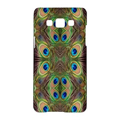 Beautiful Peacock Feathers Seamless Abstract Wallpaper Background Samsung Galaxy A5 Hardshell Case  by Simbadda