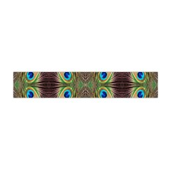 Beautiful Peacock Feathers Seamless Abstract Wallpaper Background Flano Scarf (mini) by Simbadda