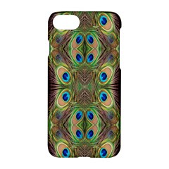 Beautiful Peacock Feathers Seamless Abstract Wallpaper Background Apple Iphone 7 Hardshell Case