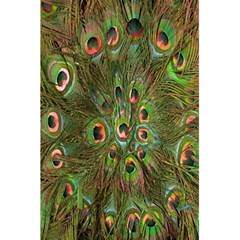 Peacock Feathers Green Background 5 5  X 8 5  Notebooks by Simbadda
