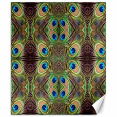 Beautiful Peacock Feathers Seamless Abstract Wallpaper Background Canvas 8  X 10  by Simbadda