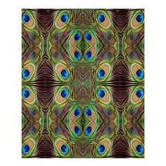 Beautiful Peacock Feathers Seamless Abstract Wallpaper Background Shower Curtain 60  X 72  (medium)  by Simbadda