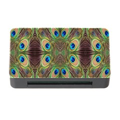 Beautiful Peacock Feathers Seamless Abstract Wallpaper Background Memory Card Reader With Cf by Simbadda