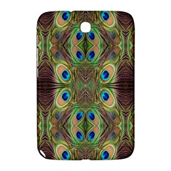 Beautiful Peacock Feathers Seamless Abstract Wallpaper Background Samsung Galaxy Note 8 0 N5100 Hardshell Case  by Simbadda