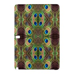 Beautiful Peacock Feathers Seamless Abstract Wallpaper Background Samsung Galaxy Tab Pro 10 1 Hardshell Case by Simbadda