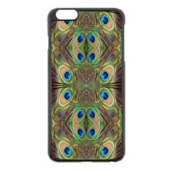 Beautiful Peacock Feathers Seamless Abstract Wallpaper Background Apple Iphone 6 Plus/6s Plus Black Enamel Case by Simbadda