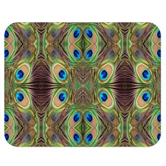Beautiful Peacock Feathers Seamless Abstract Wallpaper Background Double Sided Flano Blanket (medium)  by Simbadda