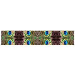 Beautiful Peacock Feathers Seamless Abstract Wallpaper Background Flano Scarf (small)