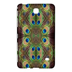 Beautiful Peacock Feathers Seamless Abstract Wallpaper Background Samsung Galaxy Tab 4 (8 ) Hardshell Case  by Simbadda