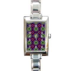 Abstract Pattern Wallpaper Rectangle Italian Charm Watch by Simbadda