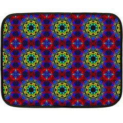 Abstract Pattern Wallpaper Double Sided Fleece Blanket (mini)  by Simbadda