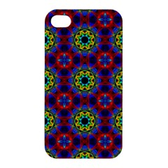 Abstract Pattern Wallpaper Apple Iphone 4/4s Premium Hardshell Case by Simbadda