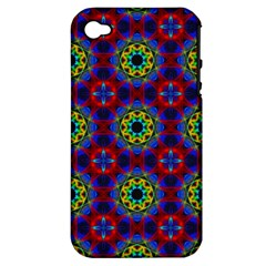 Abstract Pattern Wallpaper Apple Iphone 4/4s Hardshell Case (pc+silicone) by Simbadda