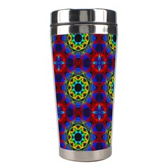 Abstract Pattern Wallpaper Stainless Steel Travel Tumblers by Simbadda