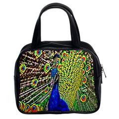 Graphic Painting Of A Peacock Classic Handbags (2 Sides) by Simbadda