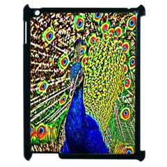 Graphic Painting Of A Peacock Apple Ipad 2 Case (black) by Simbadda