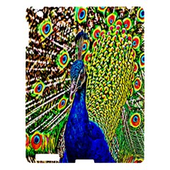 Graphic Painting Of A Peacock Apple Ipad 3/4 Hardshell Case by Simbadda