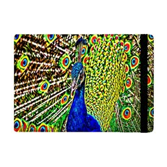 Graphic Painting Of A Peacock Apple Ipad Mini Flip Case by Simbadda