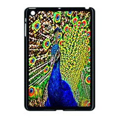 Graphic Painting Of A Peacock Apple Ipad Mini Case (black) by Simbadda