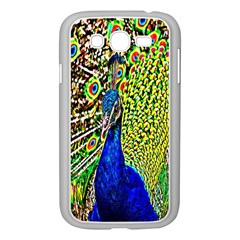 Graphic Painting Of A Peacock Samsung Galaxy Grand Duos I9082 Case (white) by Simbadda