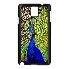 Graphic Painting Of A Peacock Samsung Galaxy Note 3 N9005 Case (black)