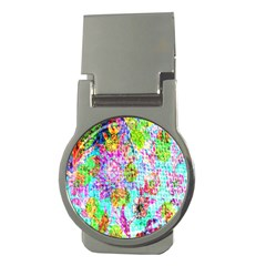 Bright Rainbow Background Money Clips (round)  by Simbadda