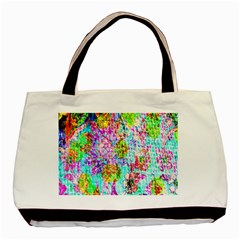 Bright Rainbow Background Basic Tote Bag (two Sides) by Simbadda
