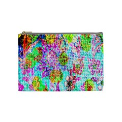 Bright Rainbow Background Cosmetic Bag (medium)  by Simbadda