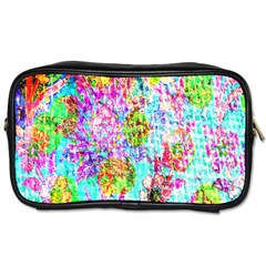 Bright Rainbow Background Toiletries Bags by Simbadda