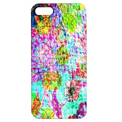 Bright Rainbow Background Apple Iphone 5 Hardshell Case With Stand by Simbadda