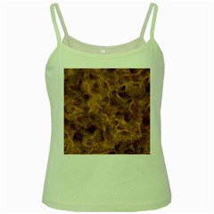 Brown Seamless Animal Fur Pattern Green Spaghetti Tank by Simbadda