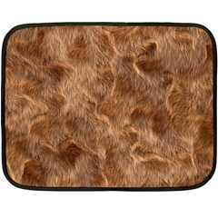 Brown Seamless Animal Fur Pattern Double Sided Fleece Blanket (mini)  by Simbadda